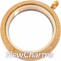 TG14 Shimmer Gold Big Round Twist Locket