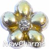 X1012 Yellow and Gold Flower Floating Locket Charm