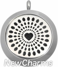 LE001 Heart Essential Oil Diffuser Stainless Steel Locket