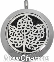 SS10  Stainless Steel Silver Big Round Floating Locket