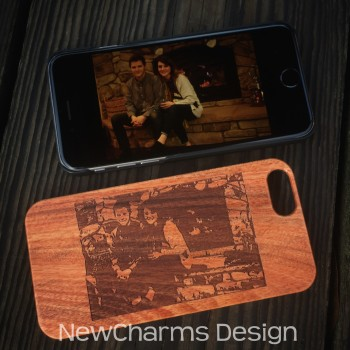 Custom image wood phone case