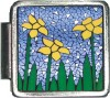 A10349 Flowers on Stained Glass Italian Charm