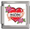 A10365 Mom on Heart Italian Charm