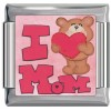 I Love Mom Teddy Bear Italian Charm