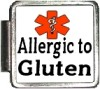 ALLERGIC TO GLUTEN Custom Photo Italian  Charm