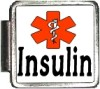 INSULIN Custom Photo Italian  Charm