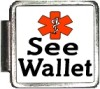 SEE WALLET Custom Photo Italian  Charm