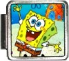 A10094 Spongebob at Beach Italian Charm