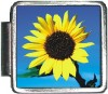 A10029 Sunflower on Blue Italian Charm