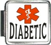 DIABETIC Custom Photo Italian  Charm