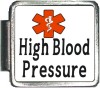High Blood Pressure Custom Photo Italian  Charm