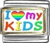 A10076 I Love my KIDS (rectangle) Italian Charm