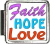 Faith Hope Love Custom Photo Italian  Charm