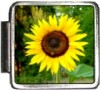 A10175 Sunflower on Green Italian Charm
