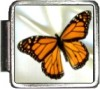 A10177 Butterfly on White Italian Charm