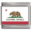 California Flag Italian Charm