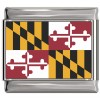 Maryland Flag Italian Charm