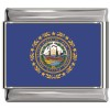 New Hampshire Flag Italian Charm