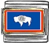 Wyoming Flag Italian Charm