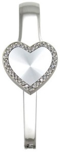EH54004 Stones Around Silver Heart Everything Holder
