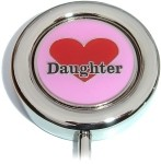 DAUGHTER ON HEART PURSE HANGER