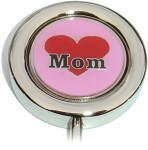 MOM ON HEART PURSE HANGER