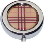 PLAID PRINT PURSE HANGER