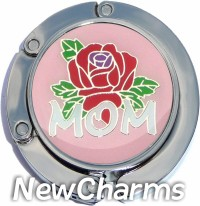 MOM ON PINK FOLDABLE PURSE HANGER