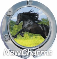 PH9048 Black Horse Foldable Purse Hanger