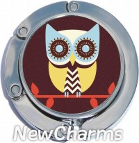 PH9035 Colorful Owl Foldable Purse Hanger