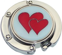 RED HEARTS FOLDABLE PURSE HANGER