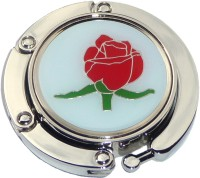 RED ROSE FOLDABLE PURSE HANGER