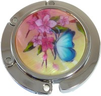 PH8105 Butterfly and Flower Foldable Purse Hanger