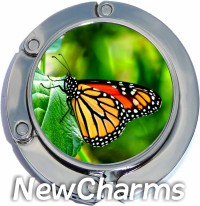 LIGHT ORANGE BUTTERFLY PHOTO PURSE HANGER