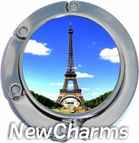 PH8215 Eiffel Tower Photo Foldable Purse Hanger