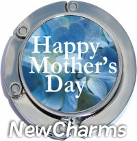 HAPPY MOTHER'S DAY ON BLUE PURSE HANGER