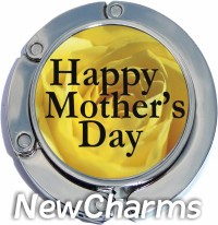 HAPPY MOTHER'S DAY ON YELLOW PURSE HANGER