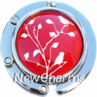 PH9038 White Branch on Red Foldable Purse Hanger