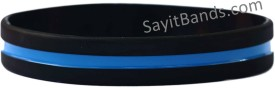 Police Officer Thin Blue Line Wristband