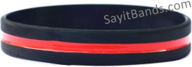 Firefighter Thin Red Line Wristband