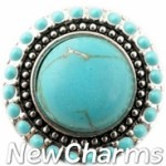 GS108 Decorative Turquoise Snap Charm