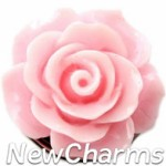 GS114 Enamel Pink Rose Snap Charm