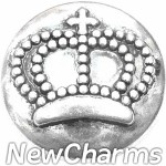 GS125 Silver Crown Snap Charm