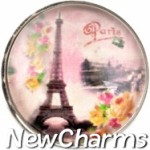 GS129 Paris Scene Snap Charm