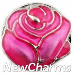 GS134 Pink Rose Snap Charm