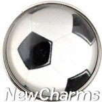 GS136 Rounded Soccer Ball Snap Charm