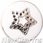 GS146 Seeing Stars White Snap Charm