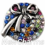 GS147 Multicolored CZ Ribbon Snap Charm