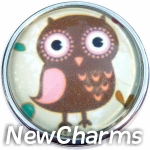 GS156 Owl Snap Charm