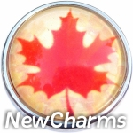 GS158 Maple Leaf Snap Charm